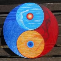 Yin und Yang 2 mit der unendlichen Acht